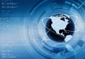 Internet concept background conceptual worldwide data sharing Stock Image