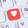Internet concept searching partner and love online dating Royalty Free Stock Photo