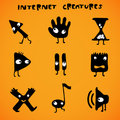 Internet cursors / creatures Stock Photo