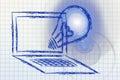 Internet e business e nuove idee Fotografia Stock Libera da Diritti