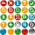 Internet ed icona di applicazione Fotografia Stock Libera da Diritti