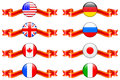 Internet flag buttons collection original vector illustration Royalty Free Stock Image