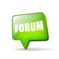 Internet forum icon vector over white Stock Photos