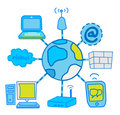 Internet Global Network communication Royalty Free Stock Photos