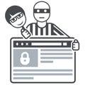 Internet hypocrite swindler payment safety Stock Image
