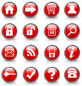 Internet icon buttons Royalty Free Stock Photography