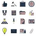 Internet icon finance set 免版税图库摄影