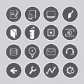 Internet icon set of icons web round buttons Royalty Free Stock Photography