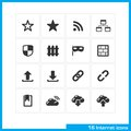 Internet icon set. Royalty Free Stock Photo