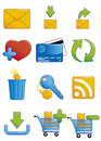 Internet icons 2 Stock Images