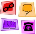 Internet icons Royalty Free Stock Images