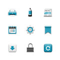Internet  icons. Azzuro series Royalty Free Stock Photo