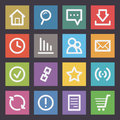 Internet icons flat illustration format eps Stock Images