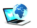 Internet on laptop Royalty Free Stock Photography