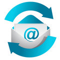 Internet mail communication concept illustration Royalty Free Stock Photo