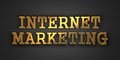 Internet marketing business concept gold text on dark background d render Royalty Free Stock Image