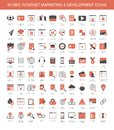 Internet marketing development icons Royalty Free Stock Photo
