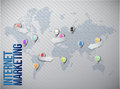 Internet marketing global network Stock Images