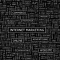 Internet marketing seamless pattern word cloud illustration Royalty Free Stock Images
