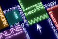 Internet neon concept. 3d. Royalty Free Stock Photography