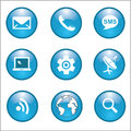 Internet network connections icon vector illustration eps white blue Royalty Free Stock Photos