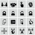 Internet and network icons set business office organization Royalty Free Stock Photos