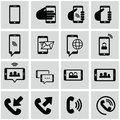 Internet and network icons set business office organization Stock Photo