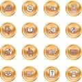 Internet oder rechnenikonen-Set Lizenzfreie Stockfotografie
