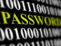 Internet password security concept binary code with text Royalty Free Stock Image