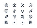 Internet and provider icons service set Royalty Free Stock Photos