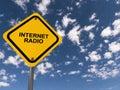 Internet radio traffic sign Royalty Free Stock Photo