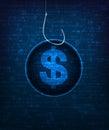 Internet scam conceptual illustration eps vector Royalty Free Stock Photos