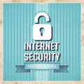 Internet Security Concept in Flat Design. Stock Images
