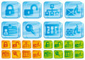 Internet security glass icons Royalty Free Stock Images