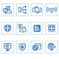 Internet and Security icon II Stock Photo