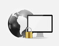 Internet security icon vector illustration this is file of eps format Stock Photography
