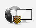 Internet security icon vector illustration this is file of eps format Royalty Free Stock Photos