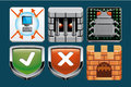 Internet security icons set of Royalty Free Stock Photos