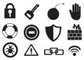 Internet Security Vector Icon Set Royalty Free Stock Photo