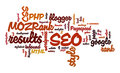 Internet SEO Word Tag Cloud Illustration