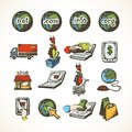 Internet shopping icons Royalty Free Stock Photo