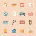 Internet shopping icons set Royalty Free Stock Photo