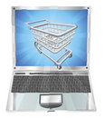 Internet shopping laptop concept Royalty Free Stock Photography