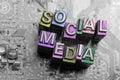 Internet, Social media & Blog website design icon Royalty Free Stock Photo