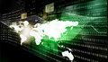 Internet technologies globalization on dark green background Stock Image