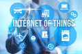 Internet of things concept future ui iot Royalty Free Stock Images