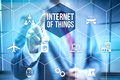 Internet of things concept future ui iot Stock Images