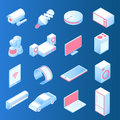 Internet of things modern set of isometric vector icons. IOT or