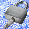 Internet traffic encryption connection to security electronic security Royalty Free Stock Photo