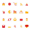 Internet, web and e-commerce icons Royalty Free Stock Images